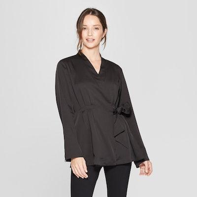 Prologue™ - Women's Long Sleeve Side Tie Wrap Jacket - Black