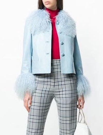 Lamb Fur Trim Jacket