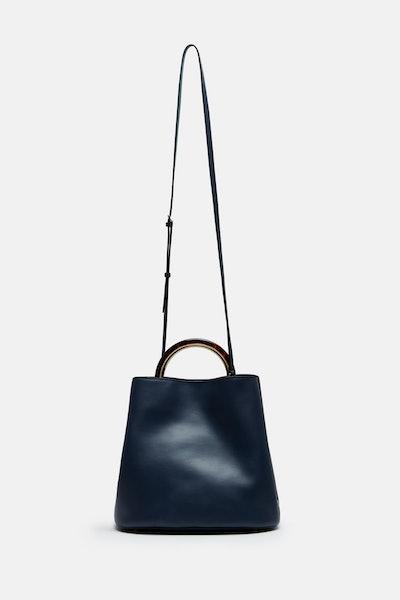 Marni Pannier Tote Bag - Deep Blue/Dark Teal