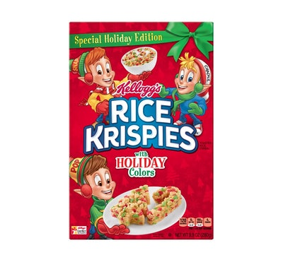 Rice Krispies with Holiday Colors