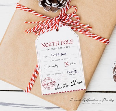 Printable Tags From North Pole