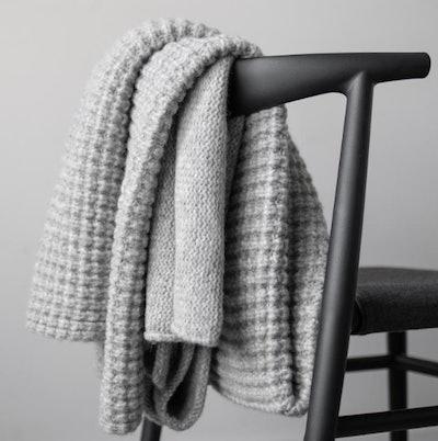 Cozy Alpaca Knit Throw
