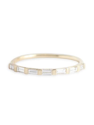 Baguette Half Eternity Ring