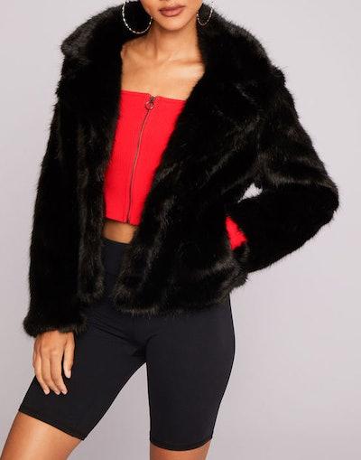 Crop Fur Jacket