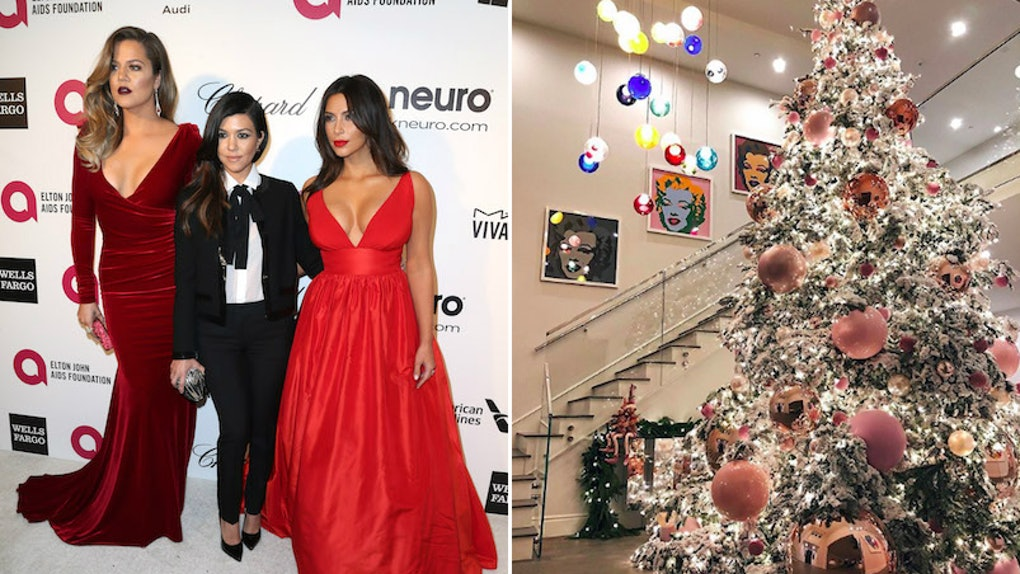 The Kardashians Christmas Decorations Through The Years Are Serious