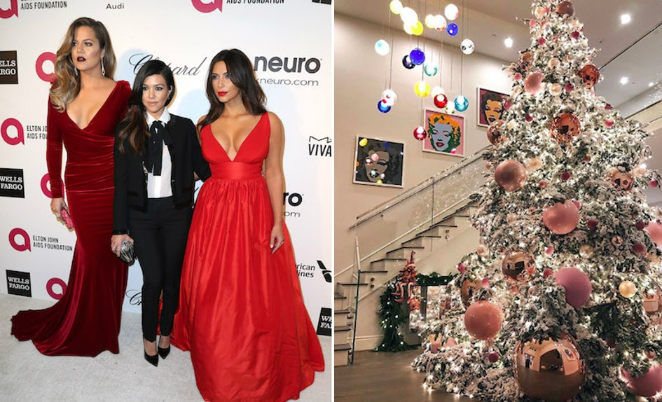 The Kardashians\' Christmas Decorations Through The Years Are Serious ...