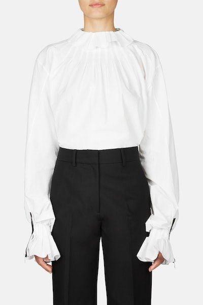 JW Anderson Pleated Collar Shirt - White