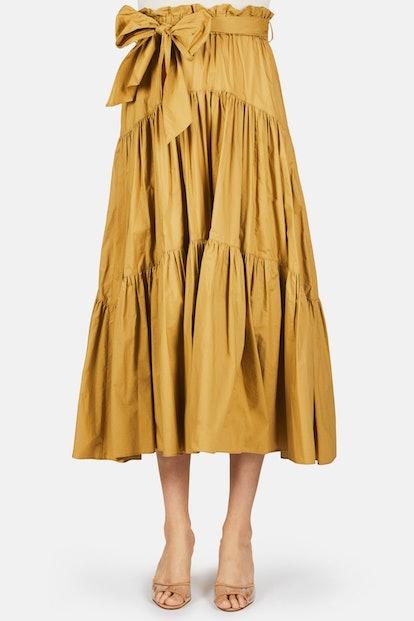 Proenza Schouler Paperbag Gathered Skirt - Fatigue