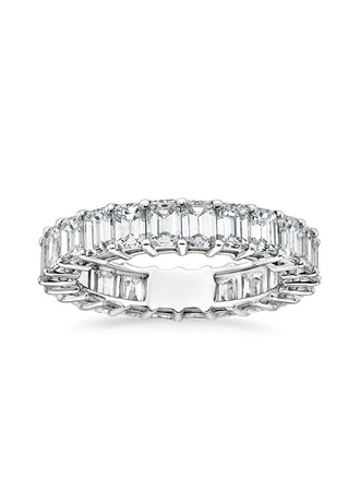 Emerald Eternity Diamond Ring