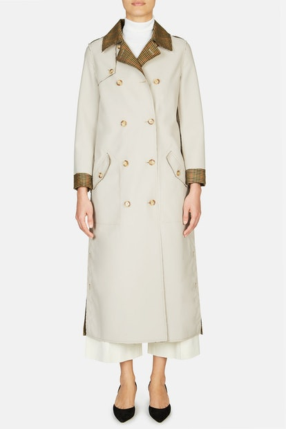 Gabriela Hearst Claremont Reversible Trench - Camel/Red Check