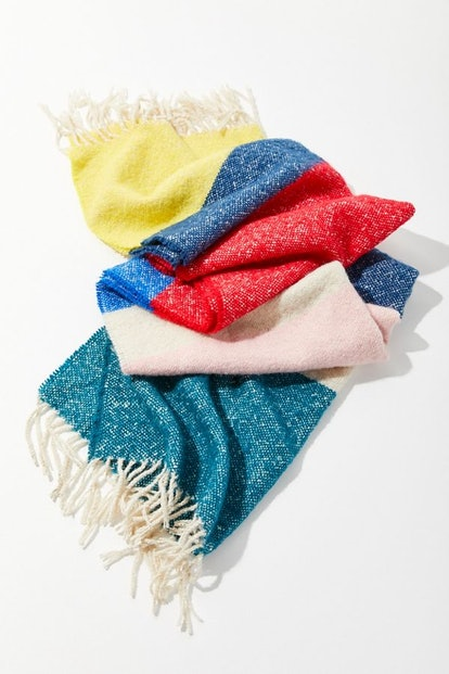 Urban Outfitters Wide Striped Blanket Scarf
