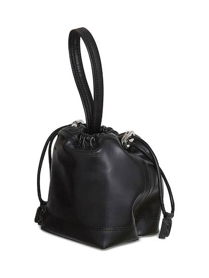 Mini Pouch Faux Leather Tote