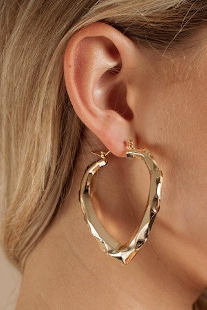 Win Me Over Gold Earrings