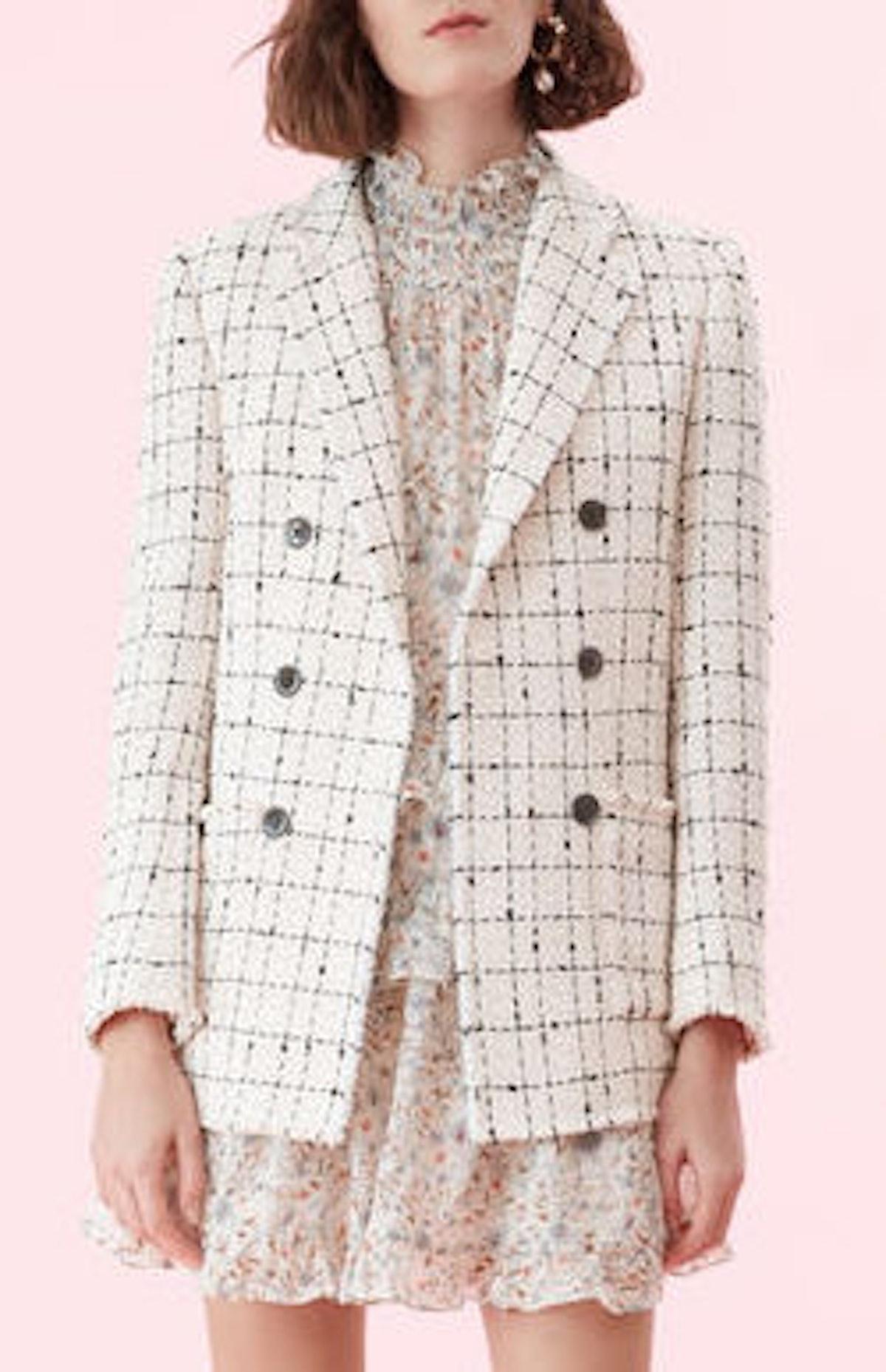 Plaid Tweed Blazer