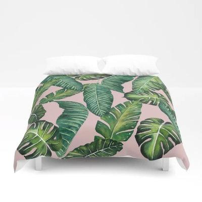 Jungle Leaves Duvet Cover