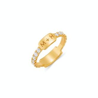 U Pave Grand Bar ID Ring