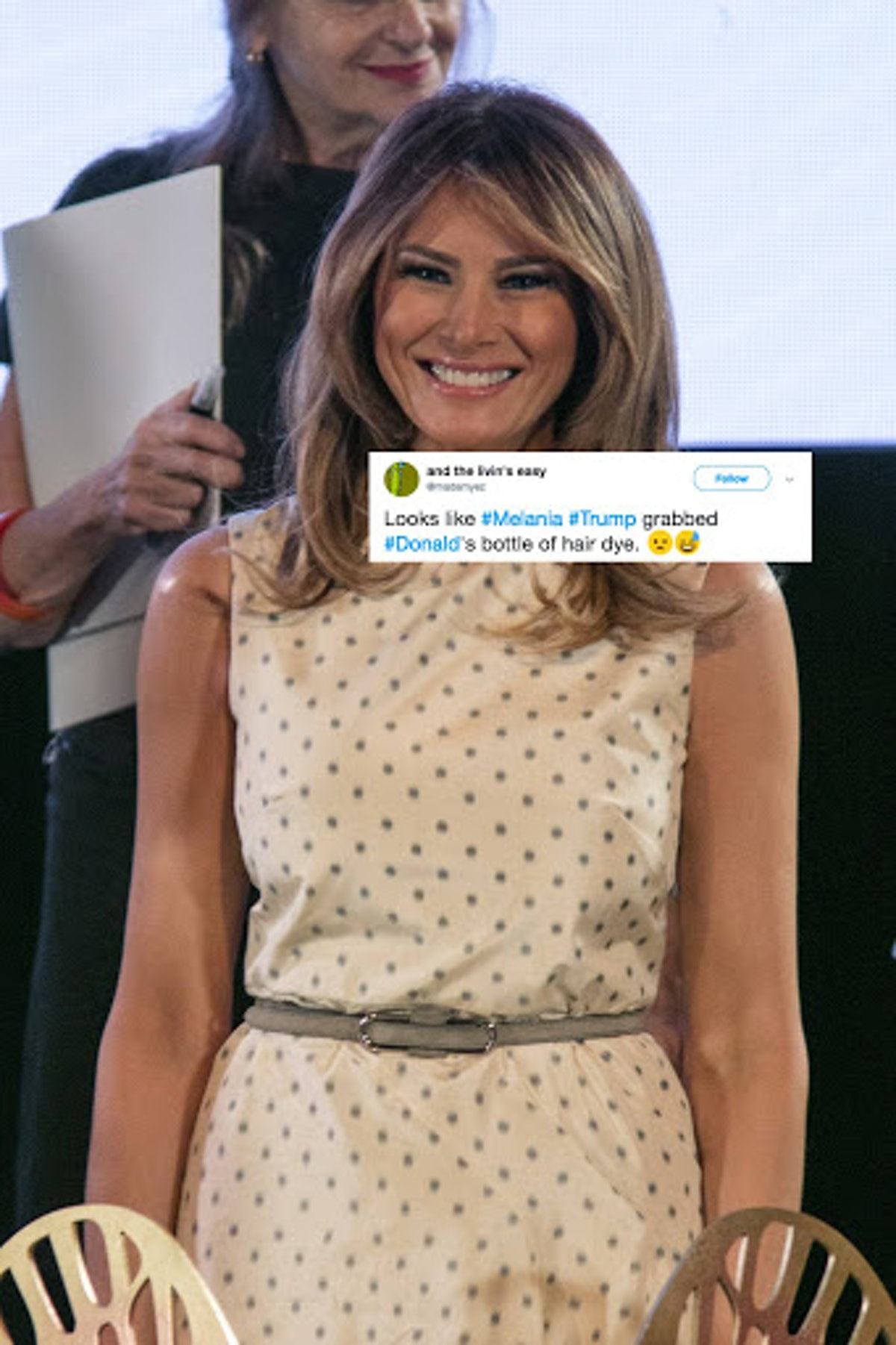 Did Melania Trump Lighten Her Hair? Twitter Thinks She & Donald Are Twins Now
