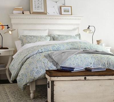 Addison Platform Bed & Headboard, Full, Almond White