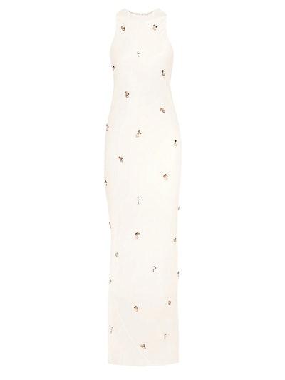 Saicala Embellished Satin Maxi Dress