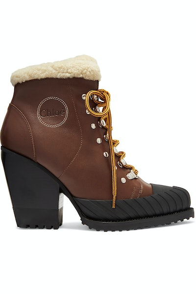Rylee Shearling & Rubber Boots