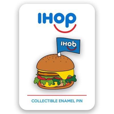 Burger Enamel Pin