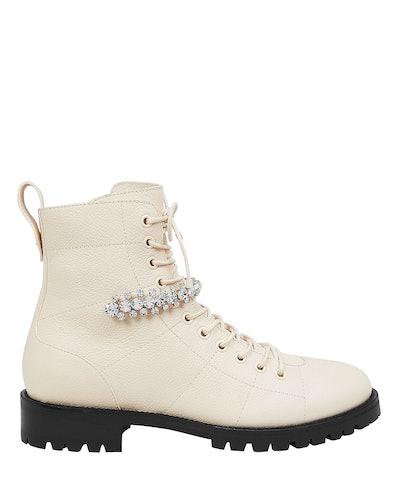 Cruz Crystal-Embellished Boots