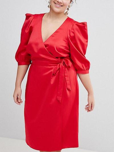 Wrap Dress With Tie Detail
