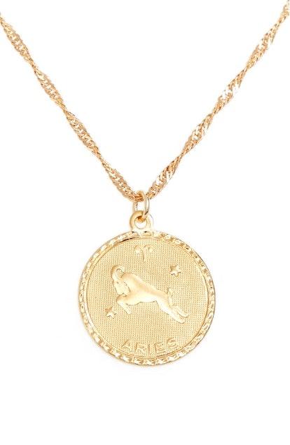 Jewelry Ascending Zodiac Medallion Necklace