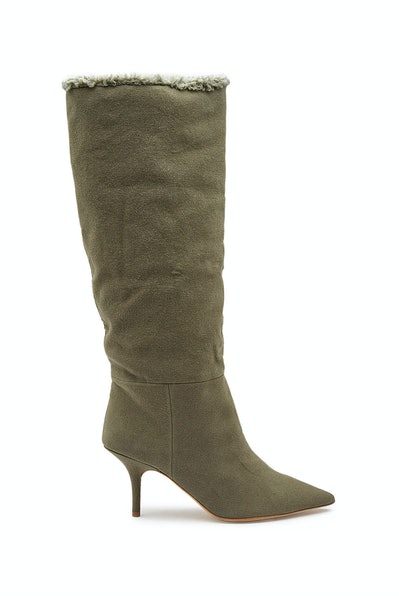 Wool Knee-High Boots