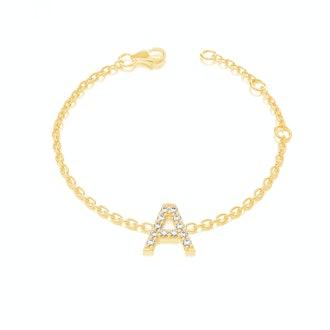 Grande Pave Letter Bracelet