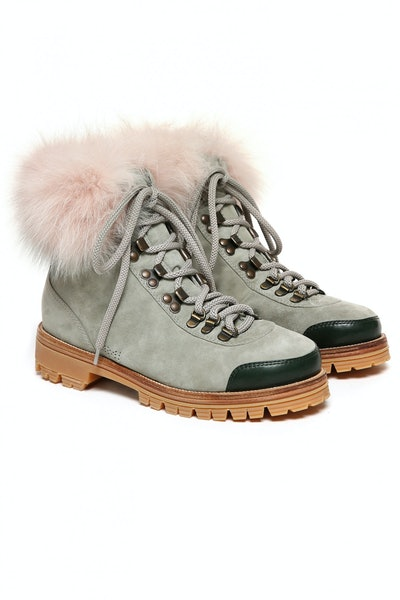 Fur Pedule Suede Fox Fur Boots