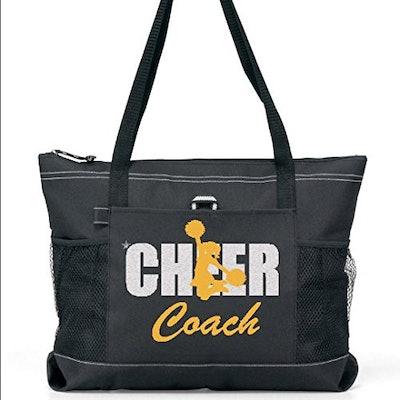 Silver Glitter Cheer Coach Sports Tote