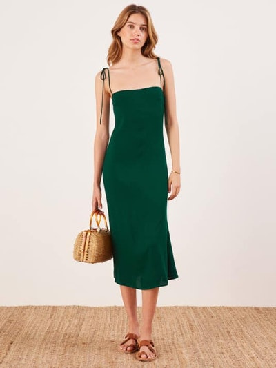 Finley Dress in Emerald