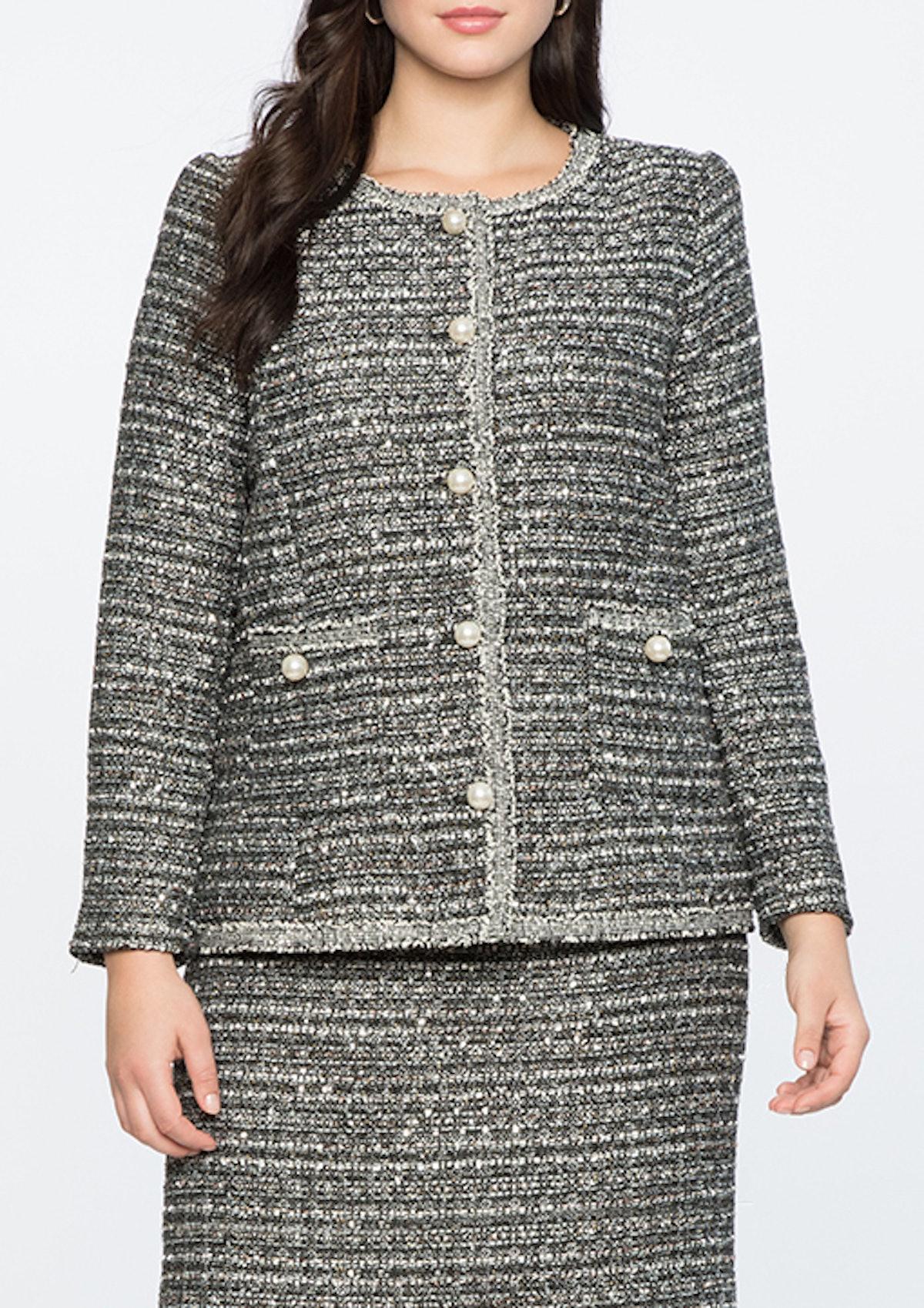 Tweed Jacket With Trim