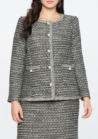 Tweed Jacket With Trim