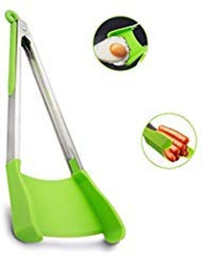 maQma Two-In-One Silicone Spatula and Tong