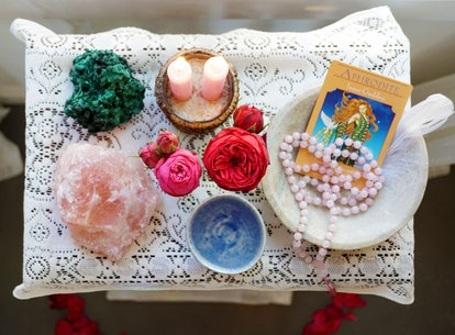 Rose quartz and aquamarine crystals can boost self-confidence.