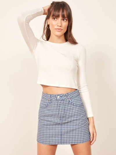 Cher Skirt in Valley Plaid