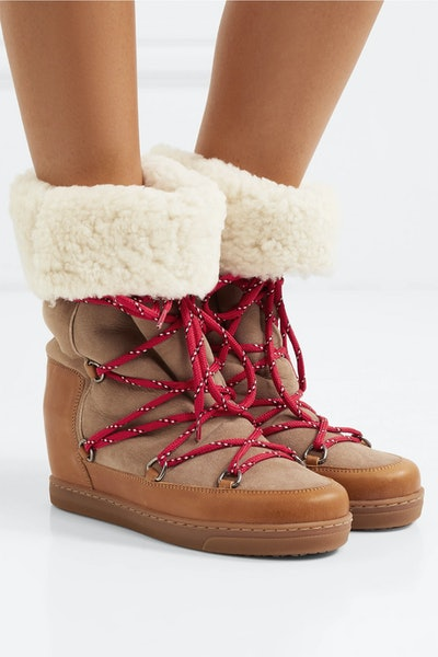 Nowly Shearling-Lined Snow Boots