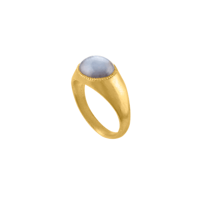 Gray Star Sapphire Roz Ring