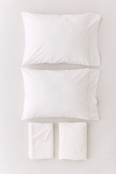 Solid Percale Cotton Sheet Set