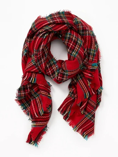Flannel Blanket Scarf for Women