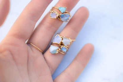 Raw Opal Ring for Women