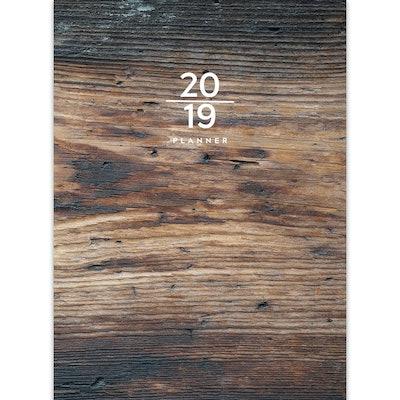 2019 Planner Wooden Pattern - TF Publishing