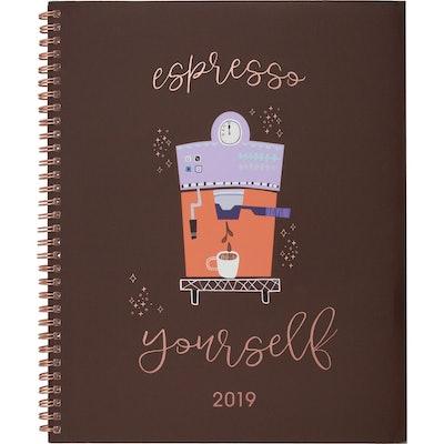 "2019 Planner 9.25""x 11"" Espresso Yourself- Cambridge"