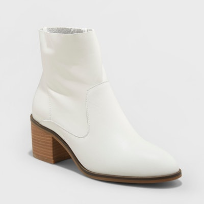 Universal Thread Reagen Heeled Leather Ankle Bootie