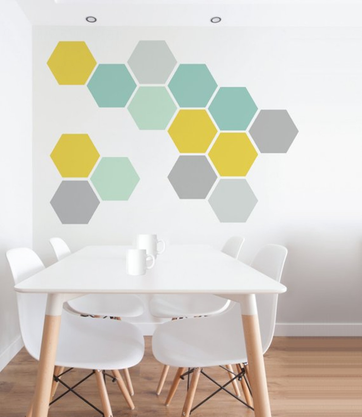 Nicematches Removable Honeycomb Wall Decals (set of 8)