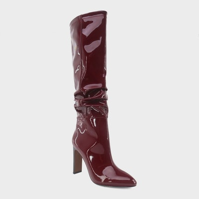 Who What Wear Leight Patent Slouch Boot