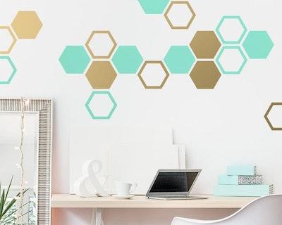 KennaSatoDesigns Honeycomb Wall Decals