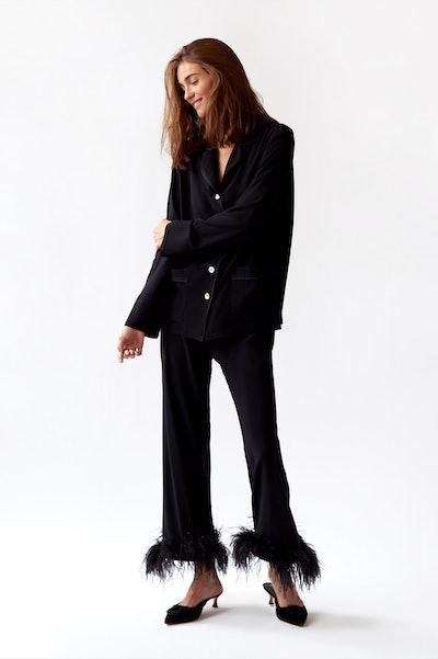 """Black Pajama Set """"Black Tie"""""""